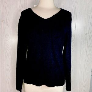 Style & Co. Black V Neck Sweater NEW with Tag